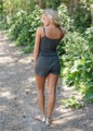 Too Good To Be True Romper Charcoal