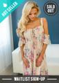 Summer Daydream Floral Off Shoulder Dress Blush