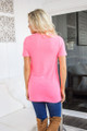 Just Watch And See Leopard Pocket Top Neon Pink