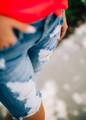 Distressed Bermuda Denim Shorts CLEARANCE