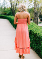 Perfect With Lace Bow High Low Dress Coral