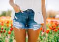 Dark Denim Distressed Shorts CLEARANCE