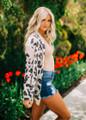 Comfy Leopard Print Open Cardigan