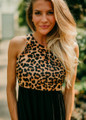 A New Side Of Me Tank Maxi Black Leopard CLEARANCE
