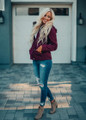 The Perfect Cargo Hooded Jacket Wine
