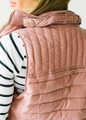 Ultra Light Weight Padded Puffer Vest Mauve
