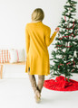 Long and Soft Open Pocket Cardigan Mustard