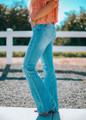 Keep On Movin' Distressed Flare Bottom Jeans