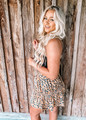 Because You're Mine Leopard Ruffle Skirt Taupe CLEARANCE