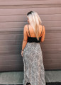 Body And Soul Ruffle Top Leopard Maxi Black CLEARANCE