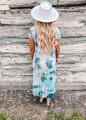 Time Keeps Tickin' Tie Dye Dress Blue CLEARANCE