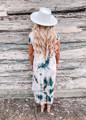 Time Keeps Tickin' Tie Dye Dress Mauve CLEARANCE