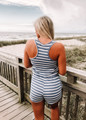 Something I Can Hold On To Striped Short Romper CLEARANCE