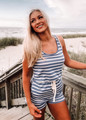 Something I Can Hold On To Striped Short Romper