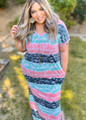 What You're Worth To Me tie Dye Striped Maxi Mint Curvy CLEARANCE