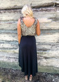 Keep You In Check Maxi Skirt Black