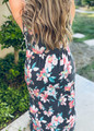 Flattering in Floral Twist Front Maxi Dress Detail Charcoal Curvy CLEARANCE