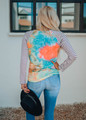 Making Things Right Tie Dye Sequins Pocket Top Neon Coral