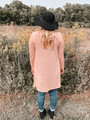 A Beautiful Kiss Button Front Pocket Cardigan Blush