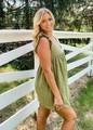 Scalloped Hem Eyelet Lace Romper/Dress Olive CLEARANCE