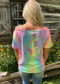 Tie Dye French Terry One Strappy Shoulder Top Pastel