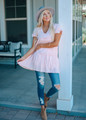 Time Together Ruffle Tunic Dress Pink