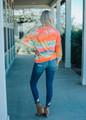 I've Got The Hues Tie Dye Sweatshirt Neon Coral CLEARANCE