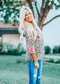 Miles Away Leopard and Floral Flare Top