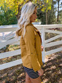 Better With You Cargo Cinched  Hooded Jacket Mustard