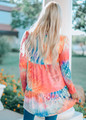 Near To Me Tie Dye Tiered Soft Knit Dress CLEARANCE