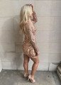 Amazing Sequins Stretch Dress Rose Gold