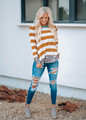 Amazing Med Wash Distressed High Waisted Jeans