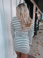 (Cyber Monday) Ticket To Love Tight Striped Tunic/Dress White