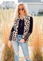 Ultra Soft Sherpa Leopard Zip Up Vest