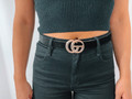 Faux Leather Snake Skin Belt Black