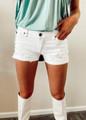 KanCan Distressed Denim Shorts White
