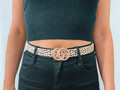 Cheetah Print Belt Tan