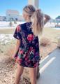Easy Going Floral Shift Dress Black