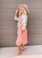 Nothin In My Way Leopard Wrap Tie Dress Blush CLEARANCE