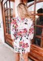 Amazing Floral Ruffle Tiered Layered Dress Ivory