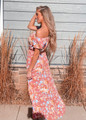 Off Shoulder High Low Tie Floral Dress
