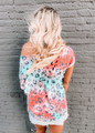 Relaxed Fit Colorful Leopard Top Multi