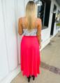 Keep You In Check Maxi Skirt Fuchsia