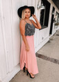 Keep You In Check Maxi Skirt Mauve