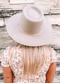 Billie Beige Ultra Structured Wool Felt Rancher