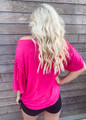 It's A Vibe Mineral Tie Dyed Fringe Top Fuchsia