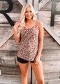 Soft Glow Relaxed and Drapey Dots Tank Mauve