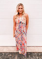Floral Haven Multi Colored Maxi Coral CLEARANCE
