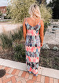 Nothing Can Stop Me Now Arrow Maxi Dress Pink