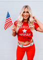 American Woman Graphic Tee Red